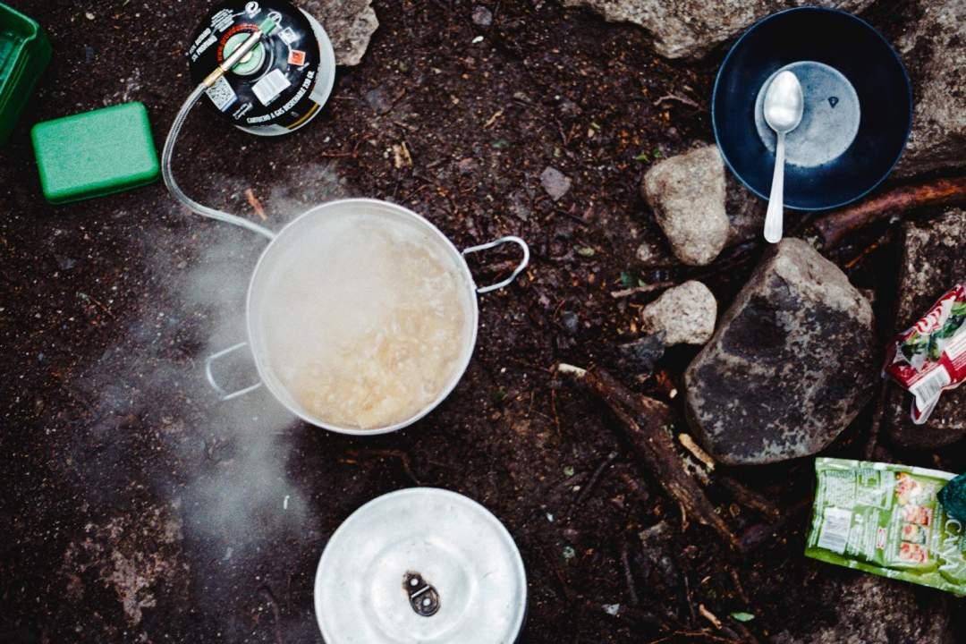 キャンプの朝ごはんは手を抜くべし 38