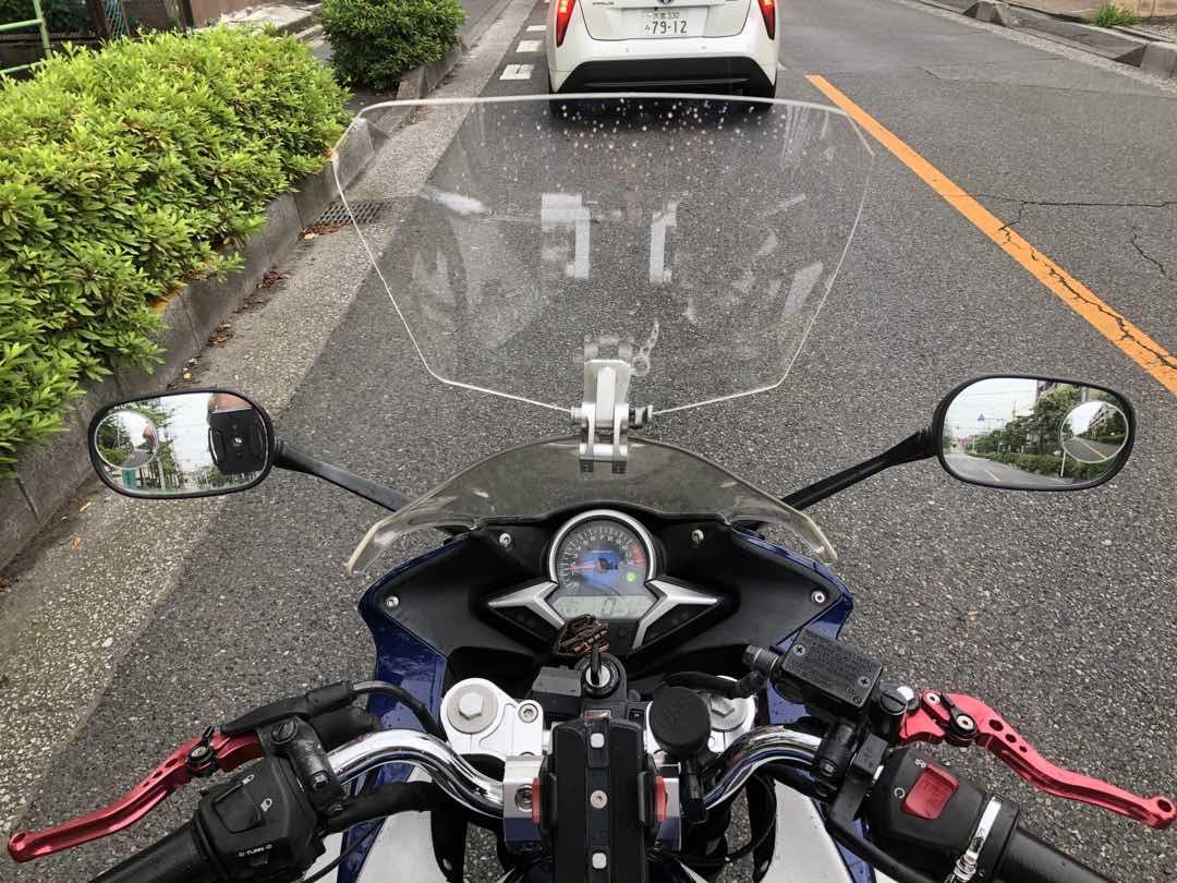 バイクスクリーンの自作方法と効果 35